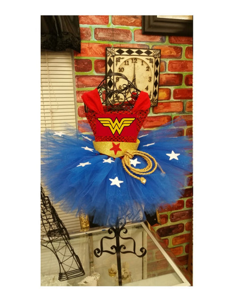 Wonder Woman tutu dress, wonder woman tutu with cape, Wonder Woman Birthday, Wonder Woman Birthday tutu, wonder woman childrens cape