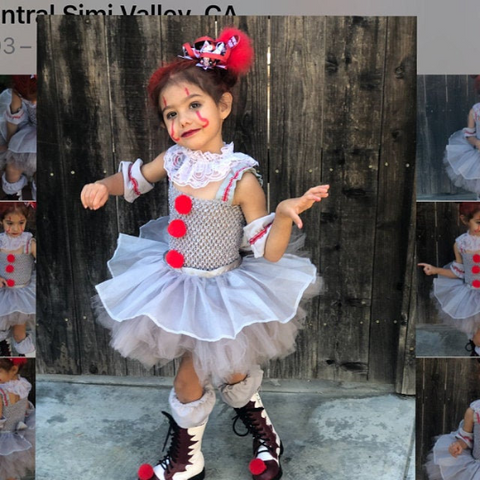 Pennywise crochet tutu, Pennywise dress, Pennwise kids costume, Pennywise costume