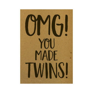 Ansichtkaart - OMG! You made twins!