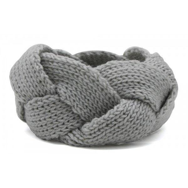Knitted Headband Grey