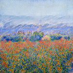 Alpine Poppy Fields - AI Art Shop
