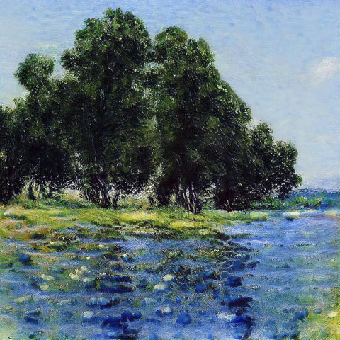 Meadow Drowing in Blue - AI Art Shop