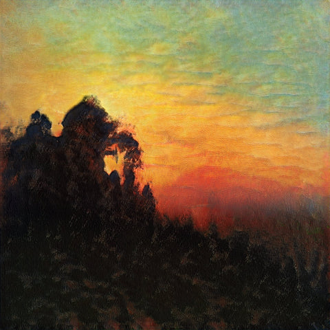 Sunrise in the Mountains - AI Art Shop
