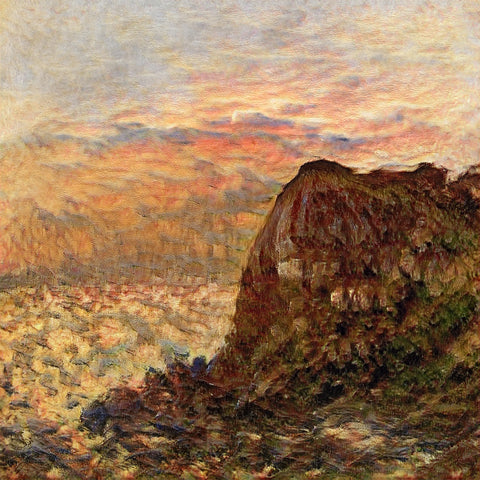 Sunset on the Cliff - AI Art Shop