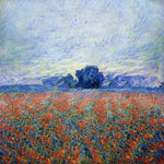 Wild Poppy field in the Countryside - AI Art Shop