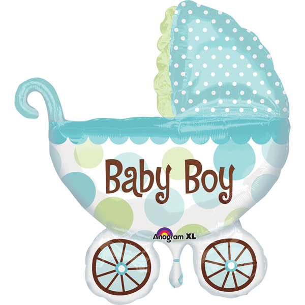 Globo Metalico 28 Baby Boy Carriola
