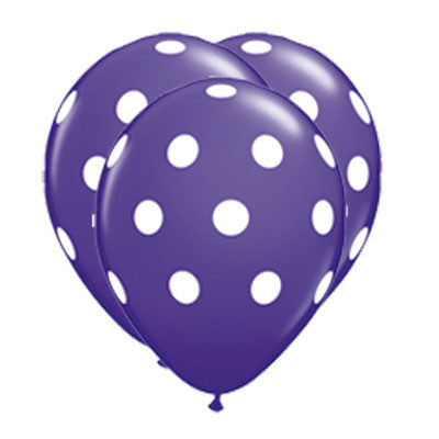 Globos Polka Dots Latex 12 Morado