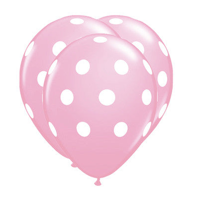 Globos Polka Dots Latex 12 Rosa