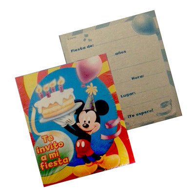 Mickey Mouse Invitacion