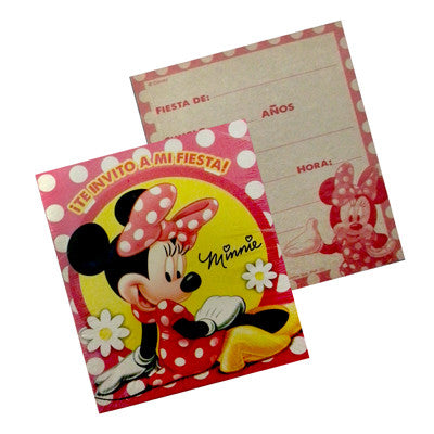 Minnie Mouse Invitacion