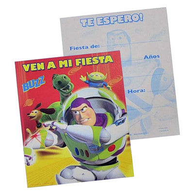 Toy Story Buzz Invitacion