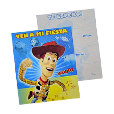 Toy Story Woody Invitacion