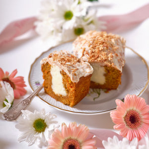 Spring Carrot Cake with Toasted Coconut (2 mini loaves)