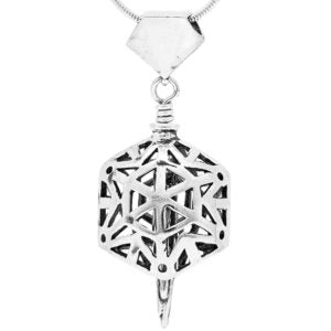 Snowflake Sterling Silver Bell Pendant Necklace
