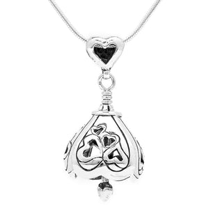 You Are Loved Sterling Silver Bell Pendant Necklace