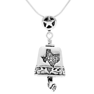 Spirit of Texas Sterling Silver Bell Pendant Necklace
