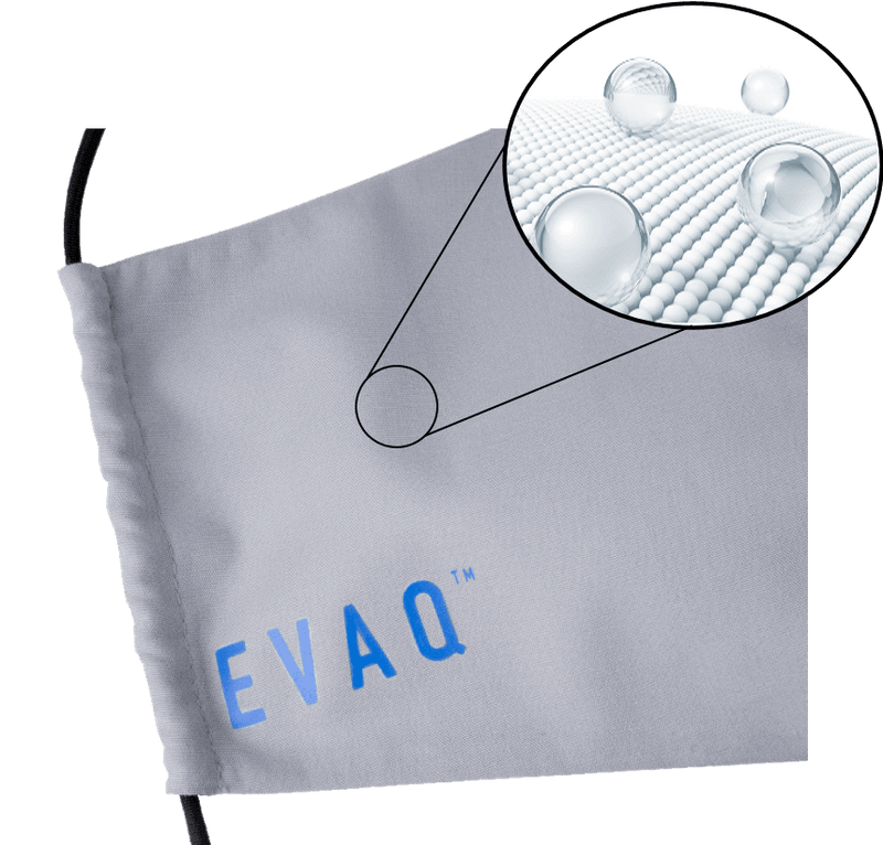 Evaq Face Mask Grey Adult EV001-08-540 Close Up