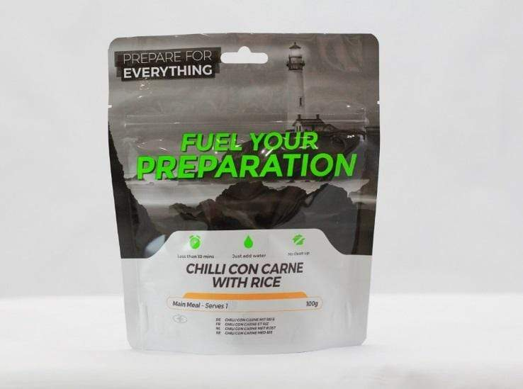 Freeze Dried Chilli Con Carne With Rice Meal Case 12 Pouches