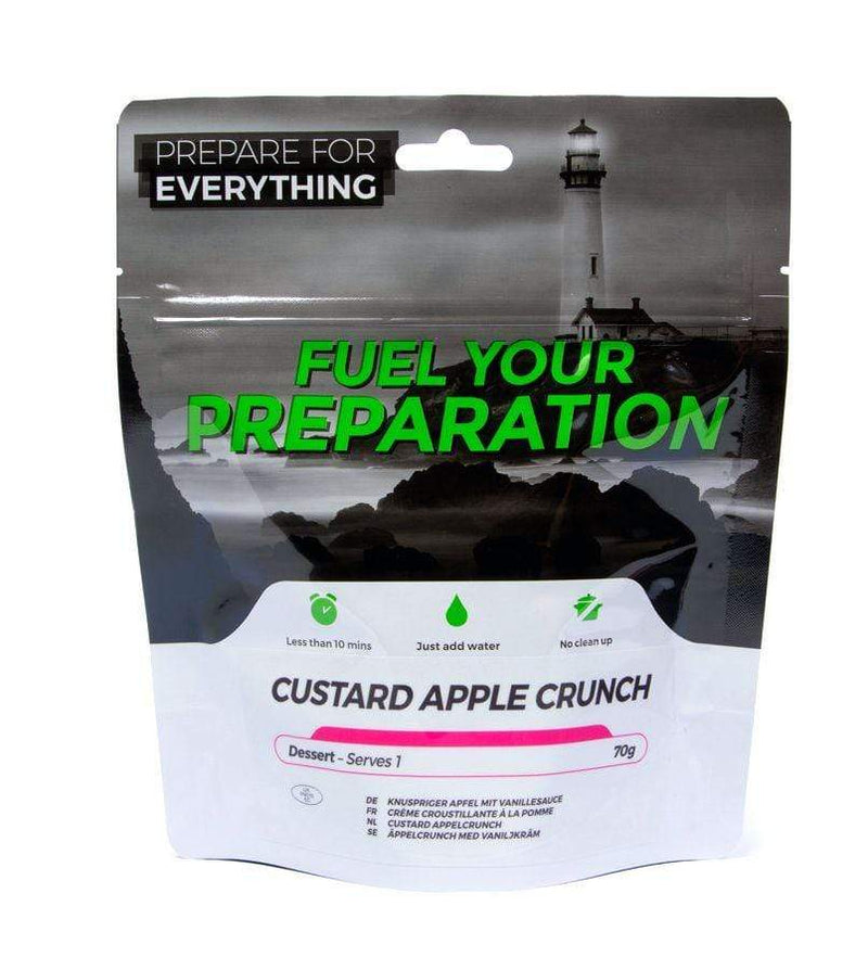 Freeze dried meal custard apple crunch pouch
