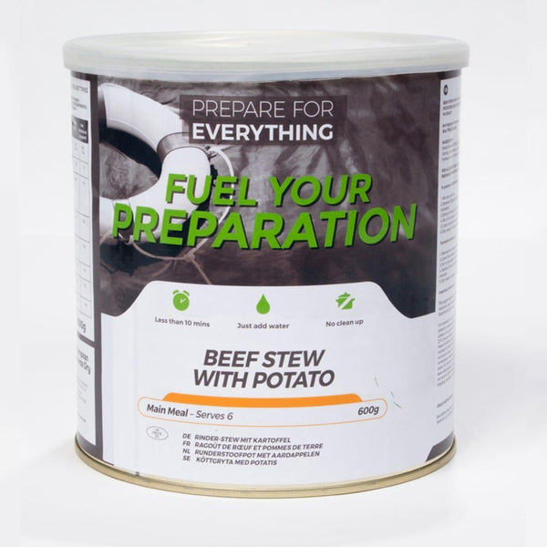 Freeze Dried Tin Rations Beef And Potato Stew 25 Year