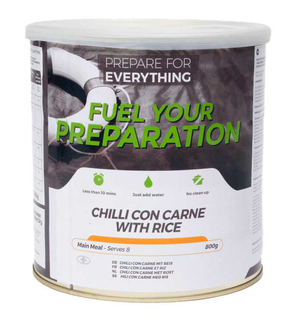 Freeze Dried Tin Rations Chilli Con Carne Rice 25 Year