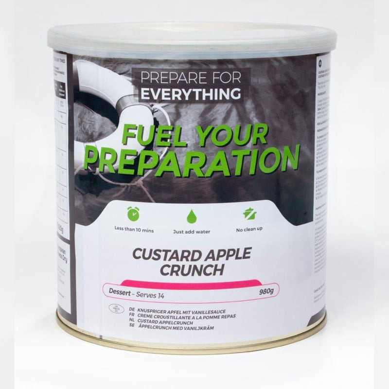 Freeze Dried Tin Rations Custard Apple Crunch 25 Year