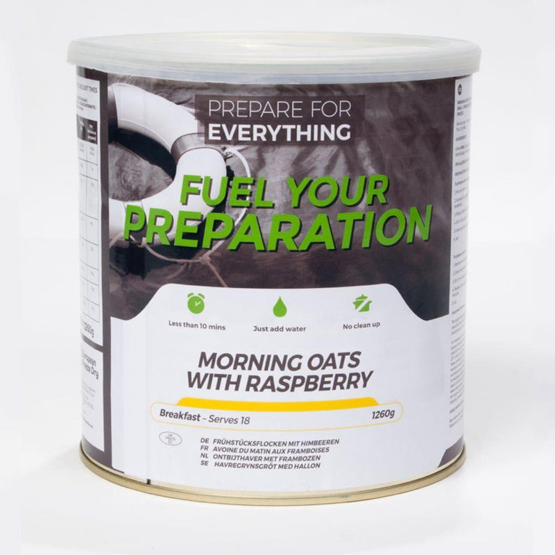 Freeze Dried Tin Rations Morning Oats Raspberry 25 Year