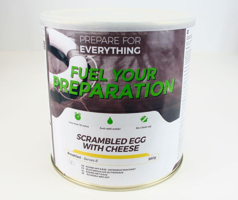 Freeze Dried Tin Rations Scrambled Egg With Cheese 25 Year