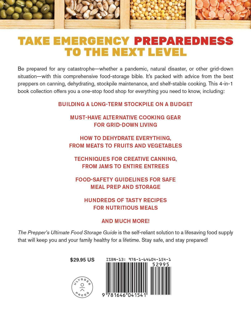 The Prepper's Ultimate Food Storage Guide Your Complete Resource back Page