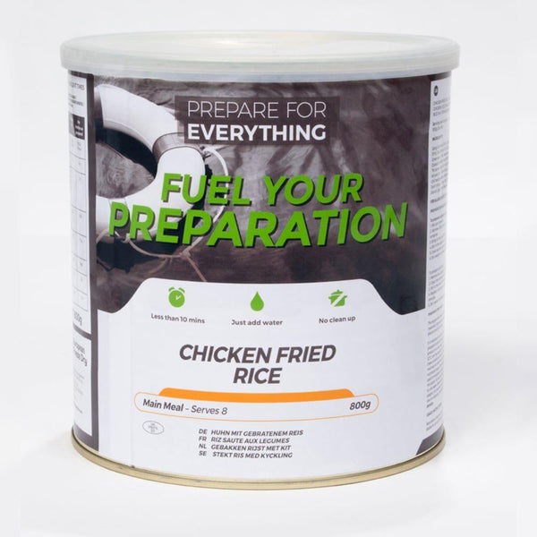 Freeze Dried Tin Rations Chicken Fried Rice 25 Year