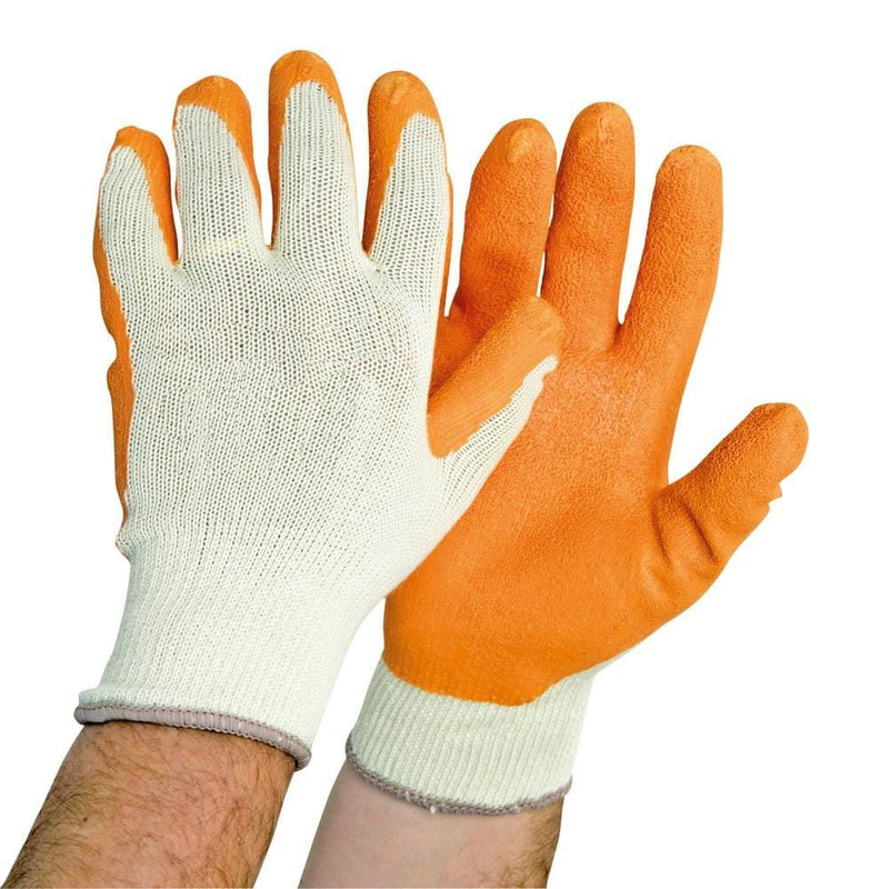 orange grip work gloves