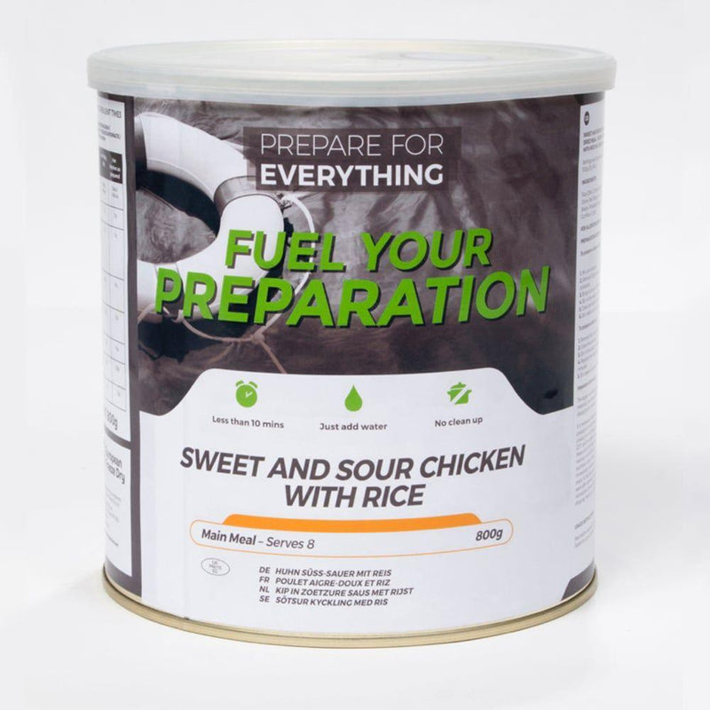 sweet and sour chicken 25 year freeze dried