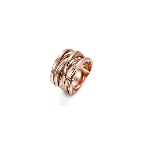 Rose Gold Intertwined Statement Ring