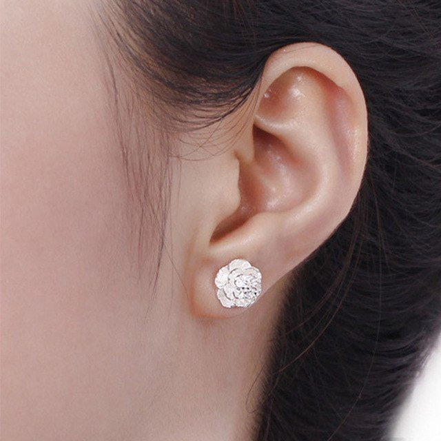 Exquisite Rose Stud Earrings