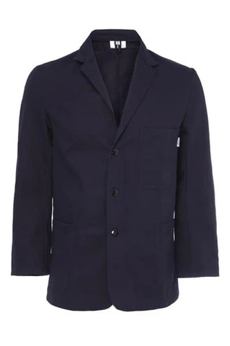 Mens Navy Cotton Drill Jacket