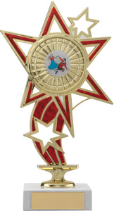 Gold/Red Star Dance Trophy