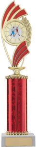 Red/Gold Dance Trophy Tall