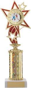 Gold/Red Star Dance Trophy Tall