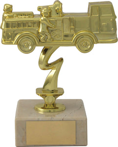 Gold Vintage Fire Engine Trophy