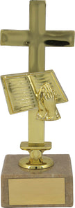 Gold Cross Religious Trophy