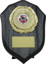 Load image into Gallery viewer, Black Wood Shield Trophy