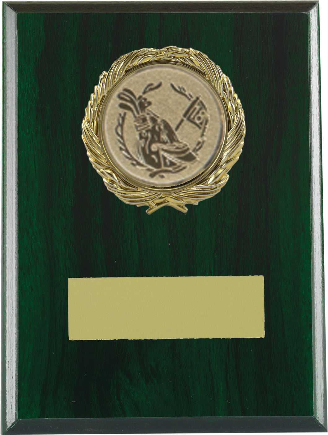 Green Wood Plaque Trophy