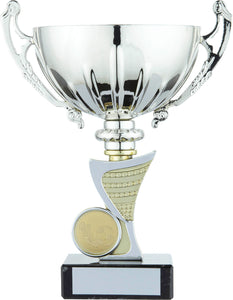 Silver/Gold Football Cup