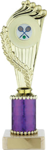 Gold/Purple Badminton Trophy Tall