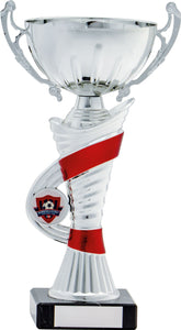 Silver/Red Cup Trophy