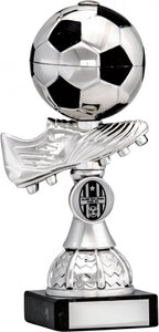 Silver Boot and Ball Football Trophy