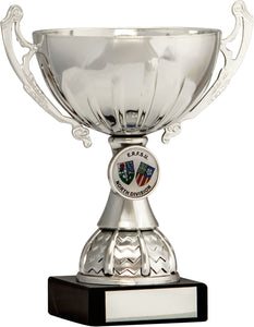 Silver Cup With Badge Trophy