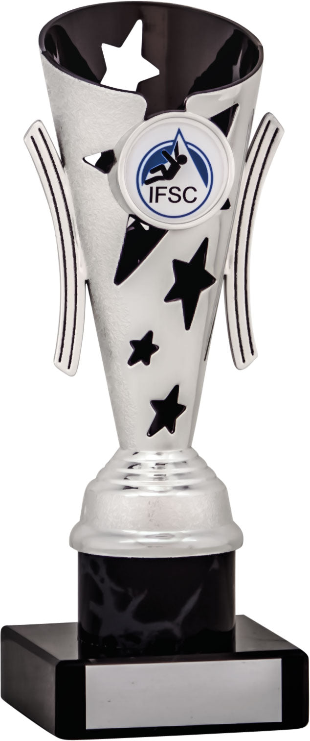 Black/Silver Fluted Column Trophy