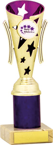Purple/Gold Fluted Column Trophy