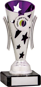 Silver/Purple Cone Trophy